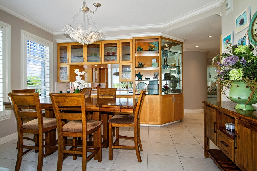 Real Estate Photography - 267 Barefoot Beach Blvd, 301, Bonita Springs, FL, 34134 - Dining Room