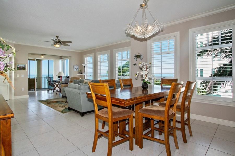 Real Estate Photography - 267 Barefoot Beach Blvd, 301, Bonita Springs, FL, 34134 - Living Room / Dining Room