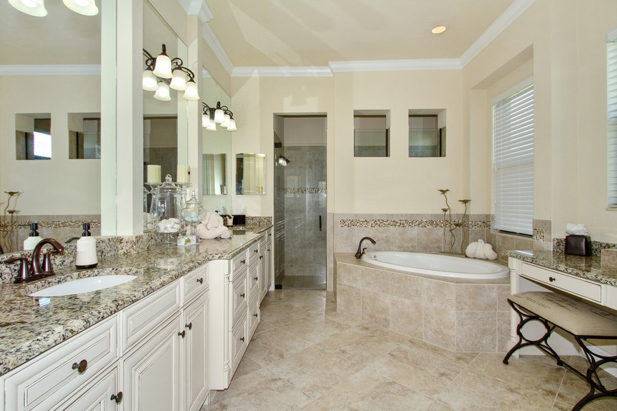Real Estate Photography - 9514 Firenze Circle, Naples, FL, 34113 - Master Bathroom