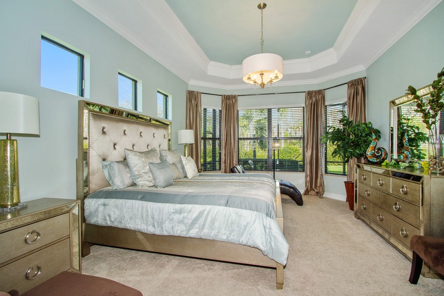 Real Estate Photography - 9514 Firenze Circle, Naples, FL, 34113 - Master Bedroom