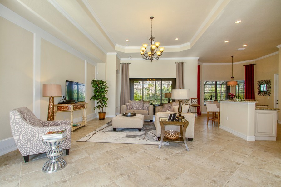 Real Estate Photography - 9514 Firenze Circle, Naples, FL, 34113 - Living Room