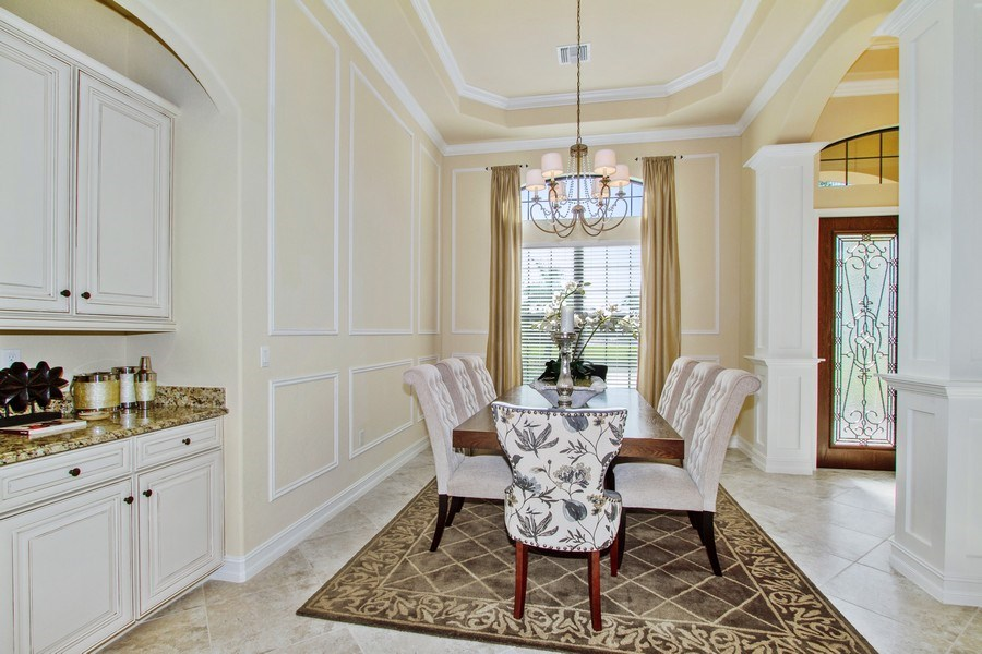 Real Estate Photography - 9514 Firenze Circle, Naples, FL, 34113 - Dining Room