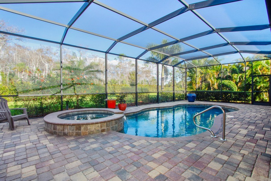Real Estate Photography - 9514 Firenze Circle, Naples, FL, 34113 - Pool