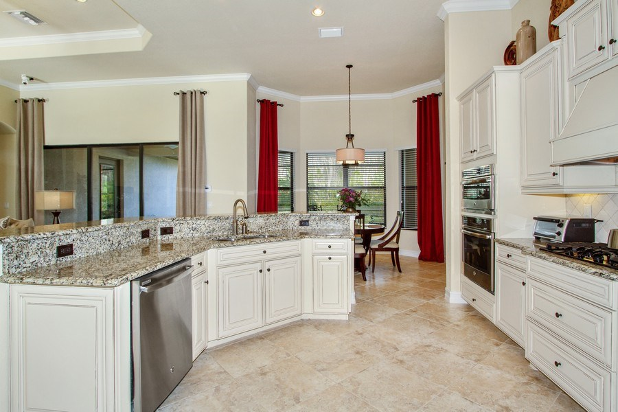 Real Estate Photography - 9514 Firenze Circle, Naples, FL, 34113 - Family Room