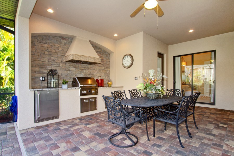 Real Estate Photography - 9514 Firenze Circle, Naples, FL, 34113 - Barbeque / Picnic Area