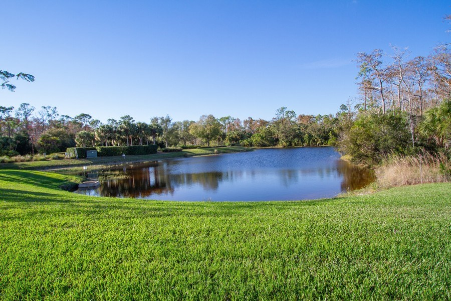 Real Estate Photography - 9514 Firenze Circle, Naples, FL, 34113 - Lake