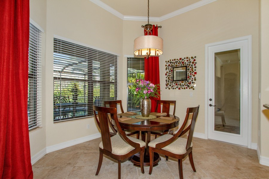 Real Estate Photography - 9514 Firenze Circle, Naples, FL, 34113 - Breakfast Area