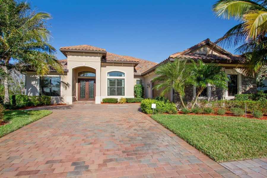 Real Estate Photography - 9514 Firenze Circle, Naples, FL, 34113 - Front View