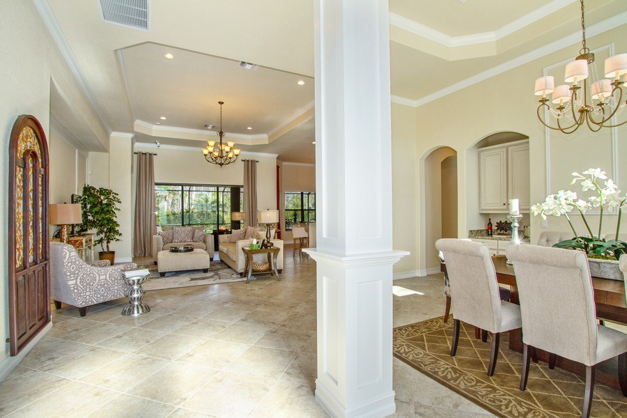 Real Estate Photography - 9514 Firenze Circle, Naples, FL, 34113 - Entryway