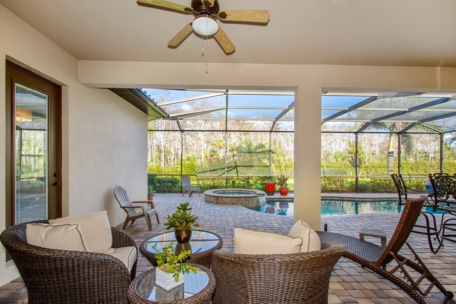 Real Estate Photography - 9514 Firenze Circle, Naples, FL, 34113 - Patio