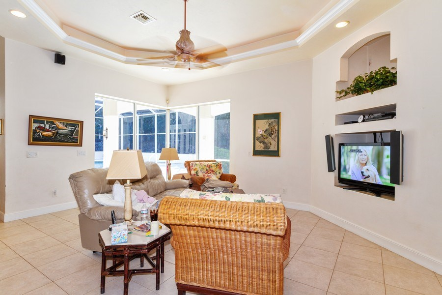 Real Estate Photography - 1661 N Copeland Dr, Marco Island, FL, 34145 - Family Room