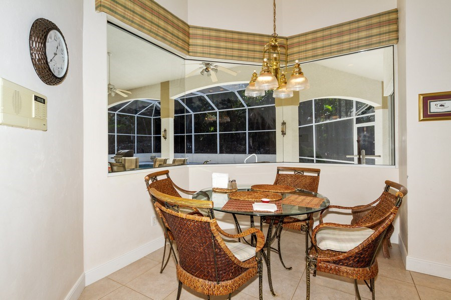 Real Estate Photography - 1661 N Copeland Dr, Marco Island, FL, 34145 - Breakfast Nook