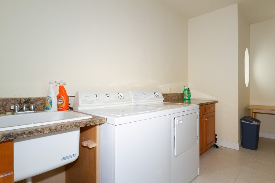 Real Estate Photography - 1648 Rainbow Ct, Marco Island, FL, 34145 - Laundry Room