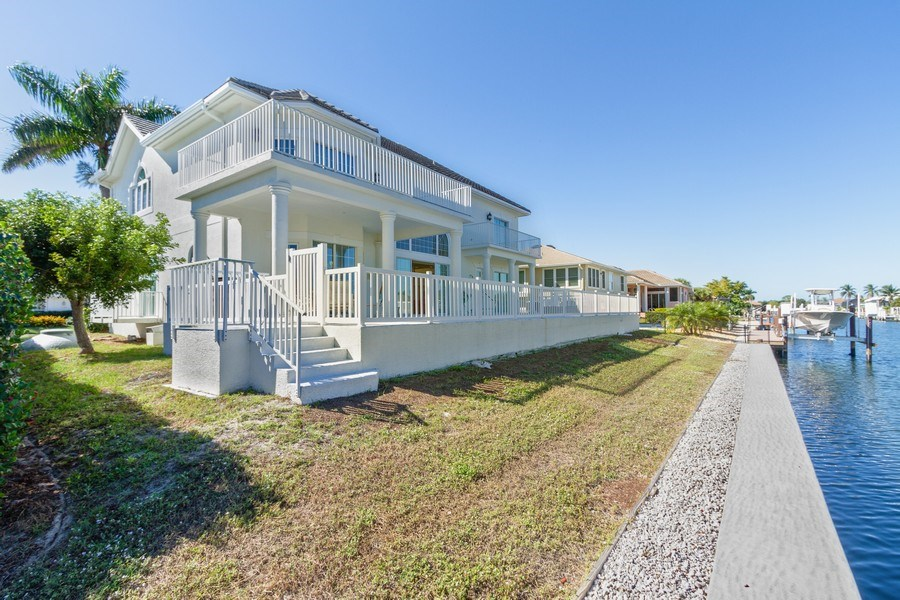 Real Estate Photography - 1648 Rainbow Ct, Marco Island, FL, 34145 - Rear View