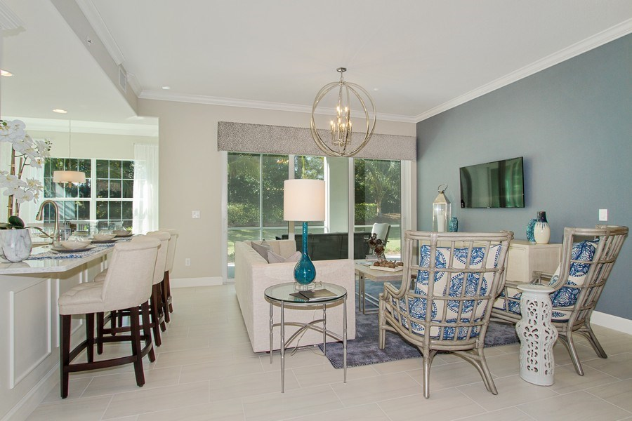 Real Estate Photography - 8031 Signature Club Cir, Unit 16101, Naples, FL, 34113 - Living Room