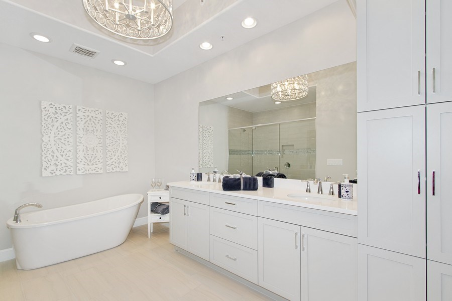 Real Estate Photography - 8031 Signature Club Cir, Unit 16101, Naples, FL, 34113 - Master Bathroom