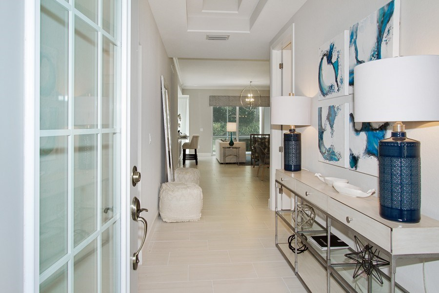 Real Estate Photography - 8031 Signature Club Cir, Unit 16101, Naples, FL, 34113 - Hallway