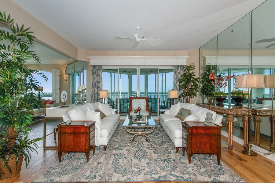 Real Estate Photography - 4811 Island Pond Ct #704, Bonita Springs, FL, 34134 - Living Room