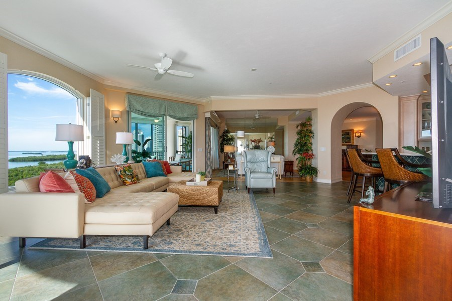 Real Estate Photography - 4811 Island Pond Ct #704, Bonita Springs, FL, 34134 - Family Room