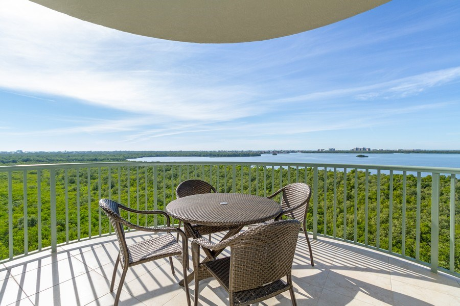 Real Estate Photography - 4811 Island Pond Ct #704, Bonita Springs, FL, 34134 - Balcony