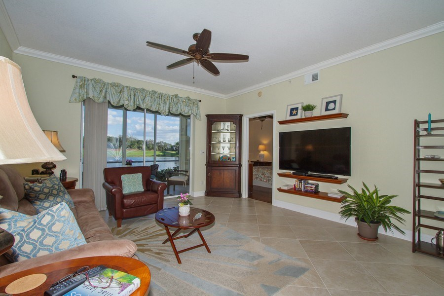 Real Estate Photography - 2280 Carrington Ct #101, Naples, FL, 34109 - Living Room