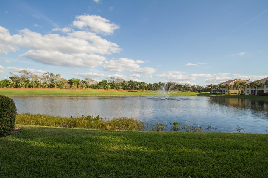 Real Estate Photography - 2280 Carrington Ct #101, Naples, FL, 34109 - Pond