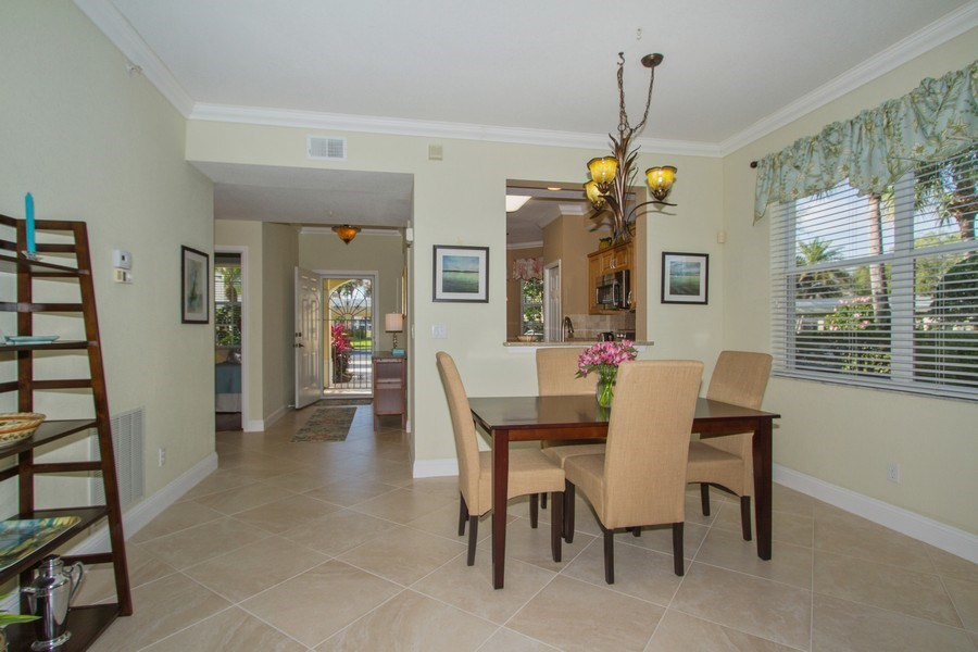 Real Estate Photography - 2280 Carrington Ct #101, Naples, FL, 34109 - Dining Room