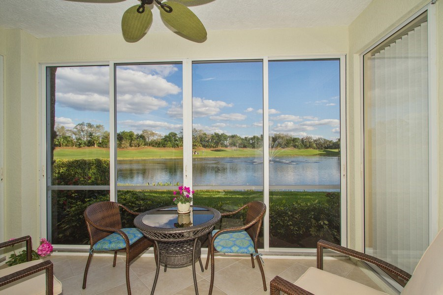 Real Estate Photography - 2280 Carrington Ct #101, Naples, FL, 34109 - Lanai