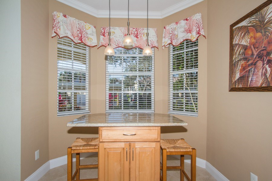 Real Estate Photography - 2280 Carrington Ct #101, Naples, FL, 34109 - Breakfast Nook