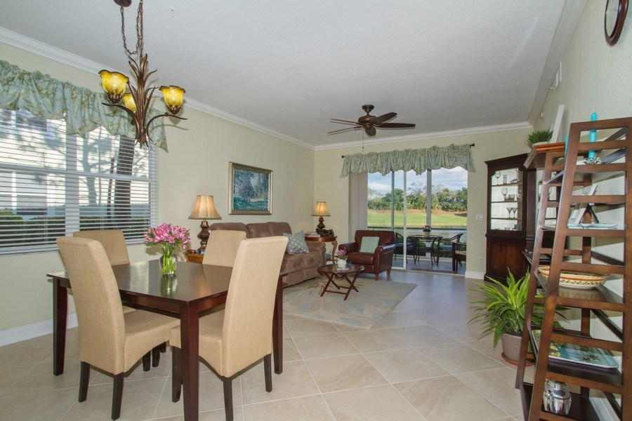 Real Estate Photography - 2280 Carrington Ct #101, Naples, FL, 34109 - Living Room / Dining Room