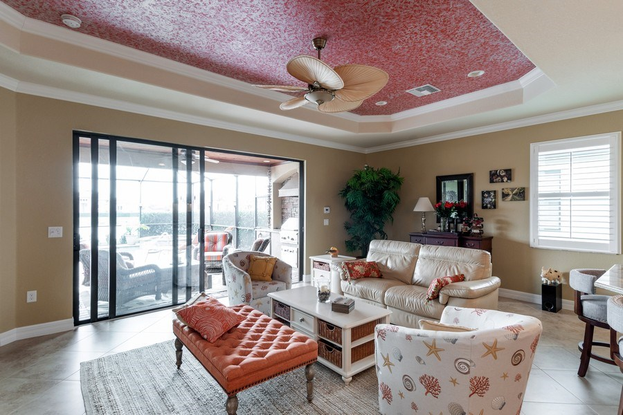 Real Estate Photography - 12538 Fenhurst Way, Naples, FL, 34120 - Living Room