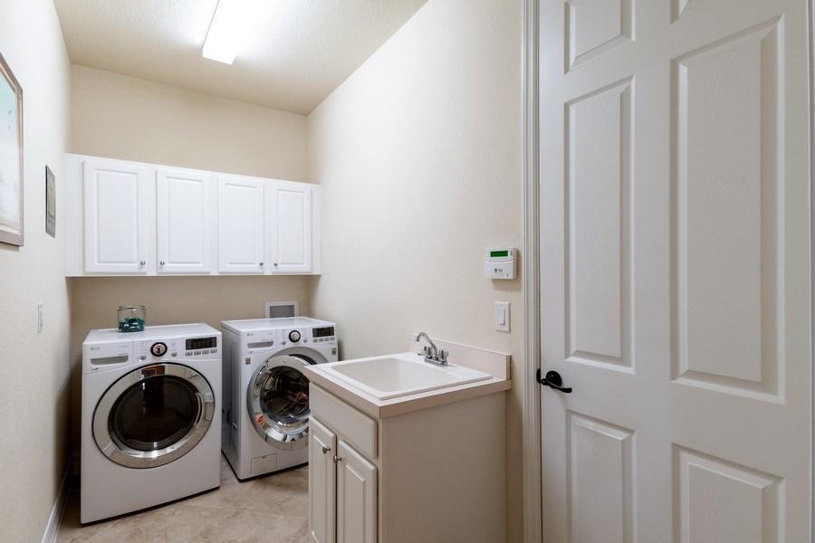 Real Estate Photography - 12538 Fenhurst Way, Naples, FL, 34120 - Laundry Room