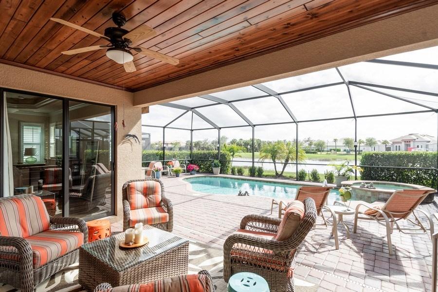 Real Estate Photography - 12538 Fenhurst Way, Naples, FL, 34120 - Patio