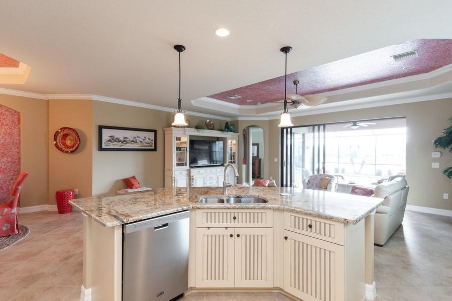 Real Estate Photography - 12538 Fenhurst Way, Naples, FL, 34120 - Kitchen / Living Room