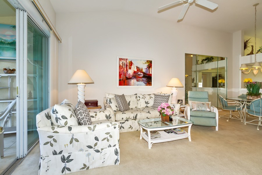 Real Estate Photography - 2285 Harmony Ln, Unit 203, Naples, FL, 34109 - Living Room