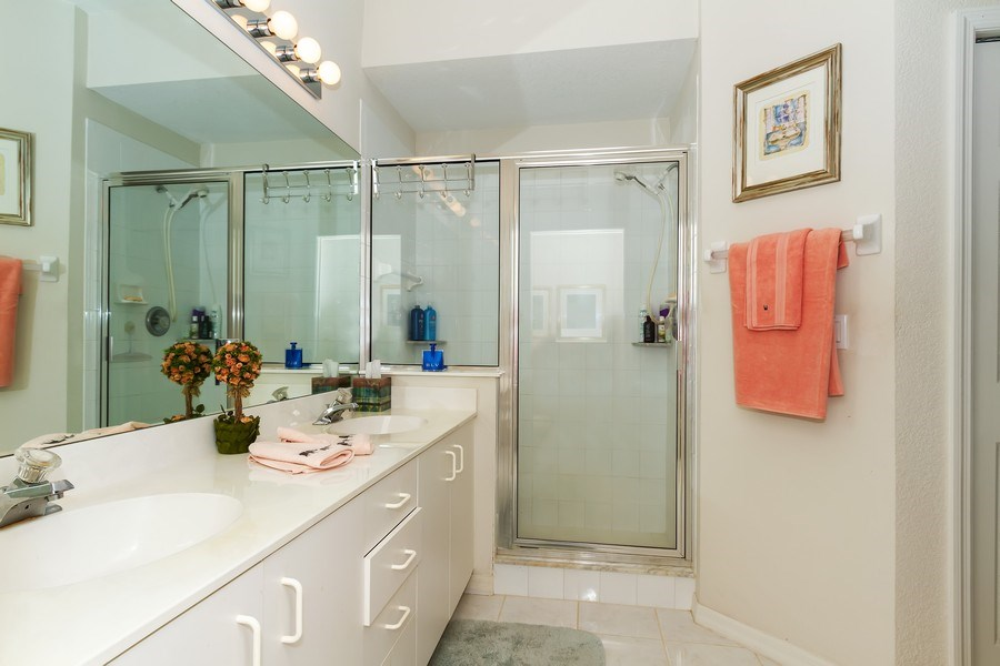 Real Estate Photography - 2285 Harmony Ln, Unit 203, Naples, FL, 34109 - Master Bathroom
