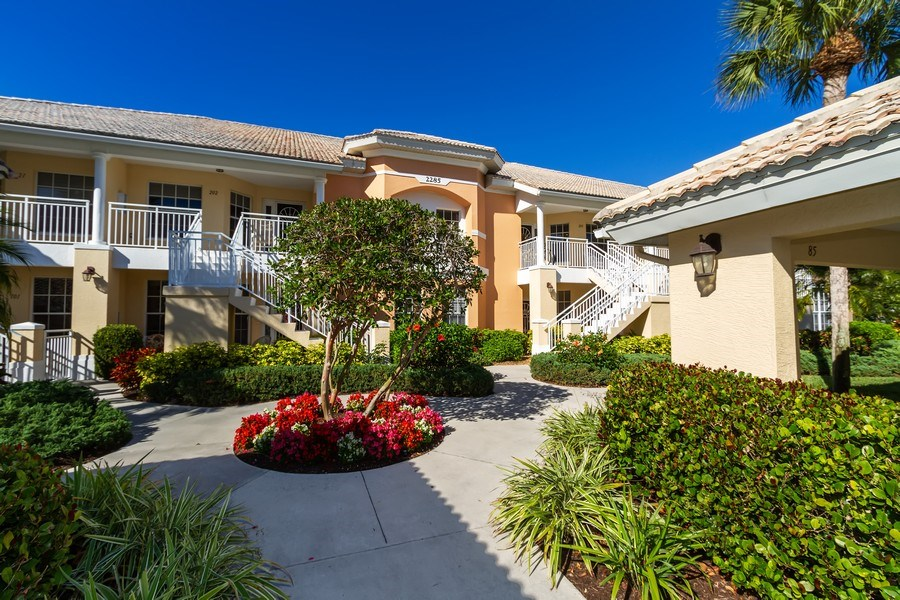 Real Estate Photography - 2285 Harmony Ln, Unit 203, Naples, FL, 34109 - Entrance