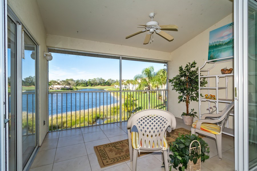 Real Estate Photography - 2285 Harmony Ln, Unit 203, Naples, FL, 34109 - Lanai
