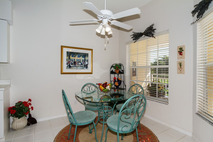 Real Estate Photography - 2285 Harmony Ln, Unit 203, Naples, FL, 34109 - Breakfast Nook