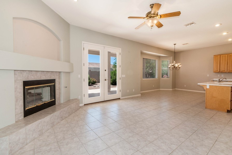 Real Estate Photography - 17685 W Eagle Dr, Goodyear, AZ, 85338 - Family Room