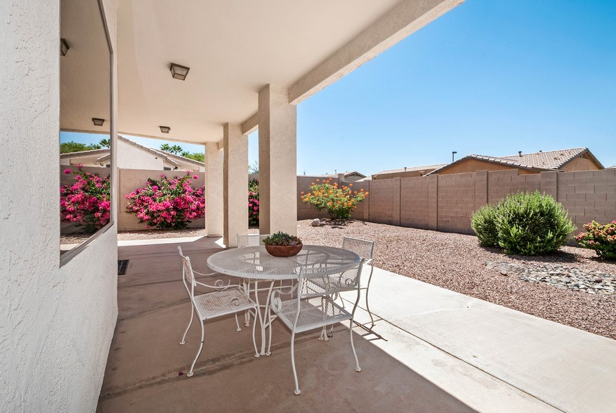 Real Estate Photography - 17685 W Eagle Dr, Goodyear, AZ, 85338 - Patio