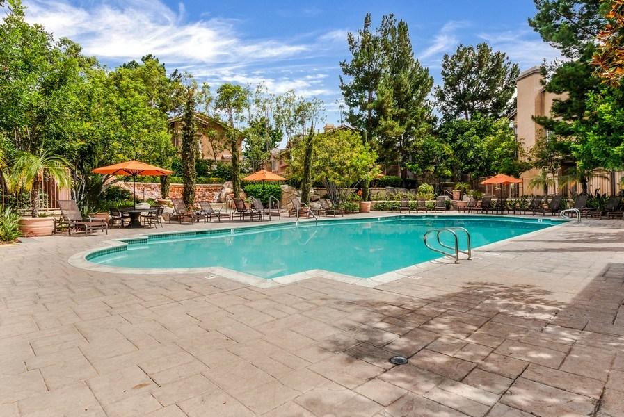Real Estate Photography - 19431 Rue De Balore, Unit 14A, Lake Forest, CA, 92610 - Pool