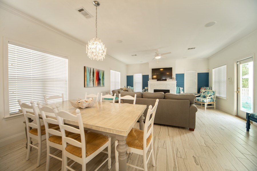 Real Estate Photography - 137 Gulfside Way, Miramar Beach, FL, 32550 - Living Room / Dining Room