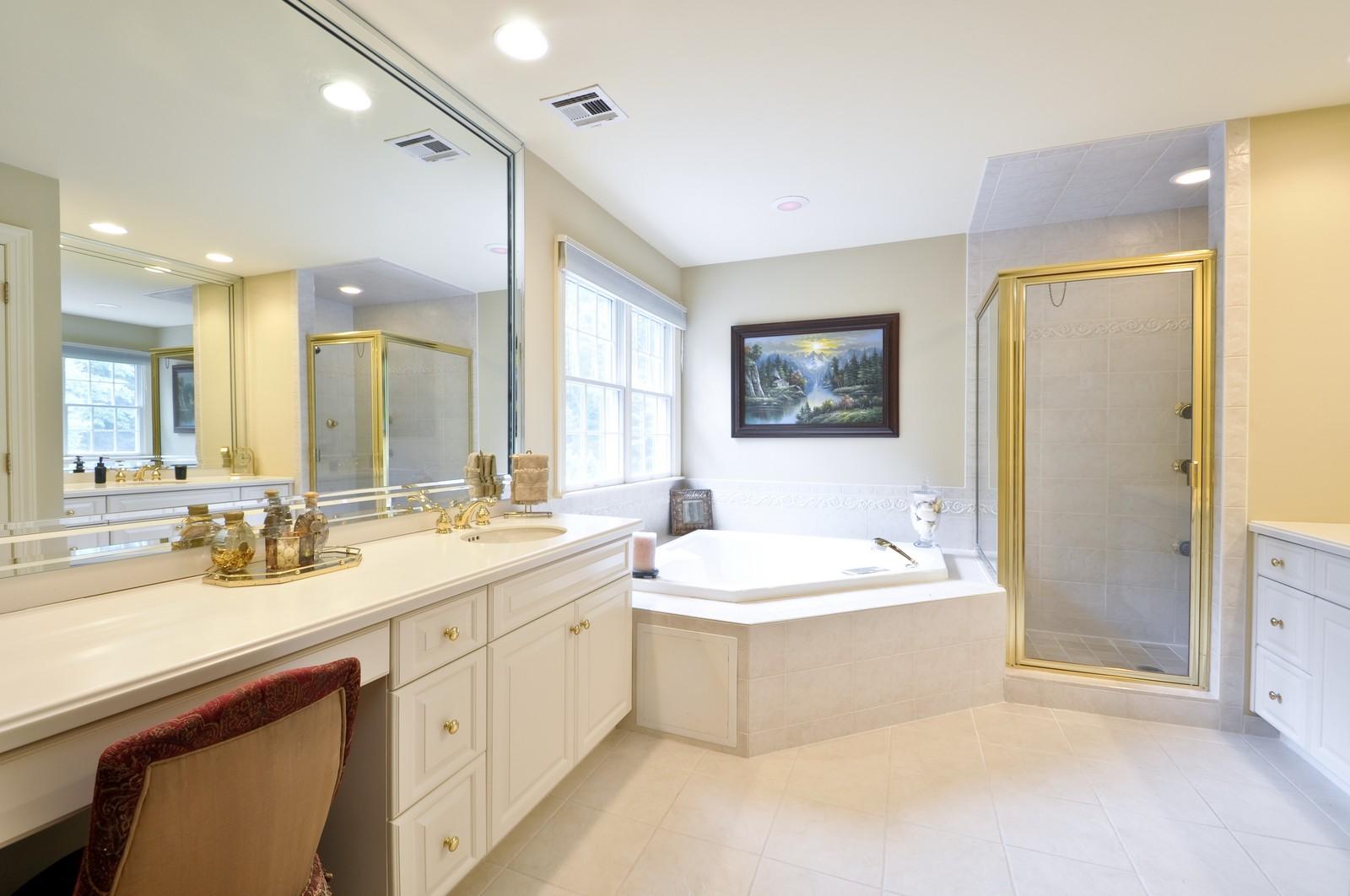 Real Estate Photography - 5 Orchard Way, Warren, NJ, 07059 - Master Bathroom