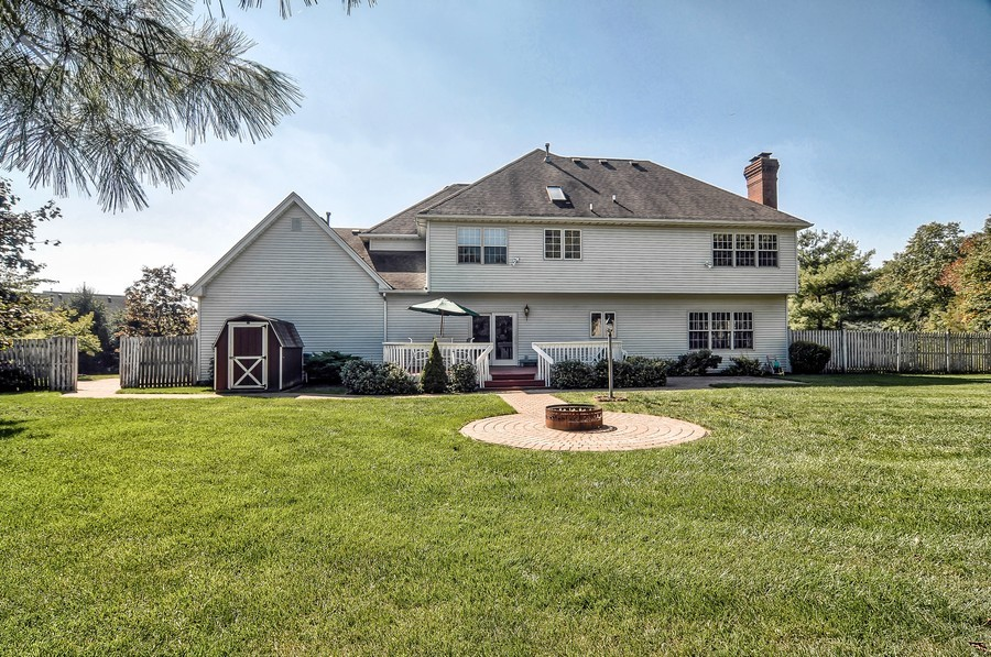 Real Estate Photography - 4 Desiree Ct, Bedminster, NJ, 07921 - Rear View