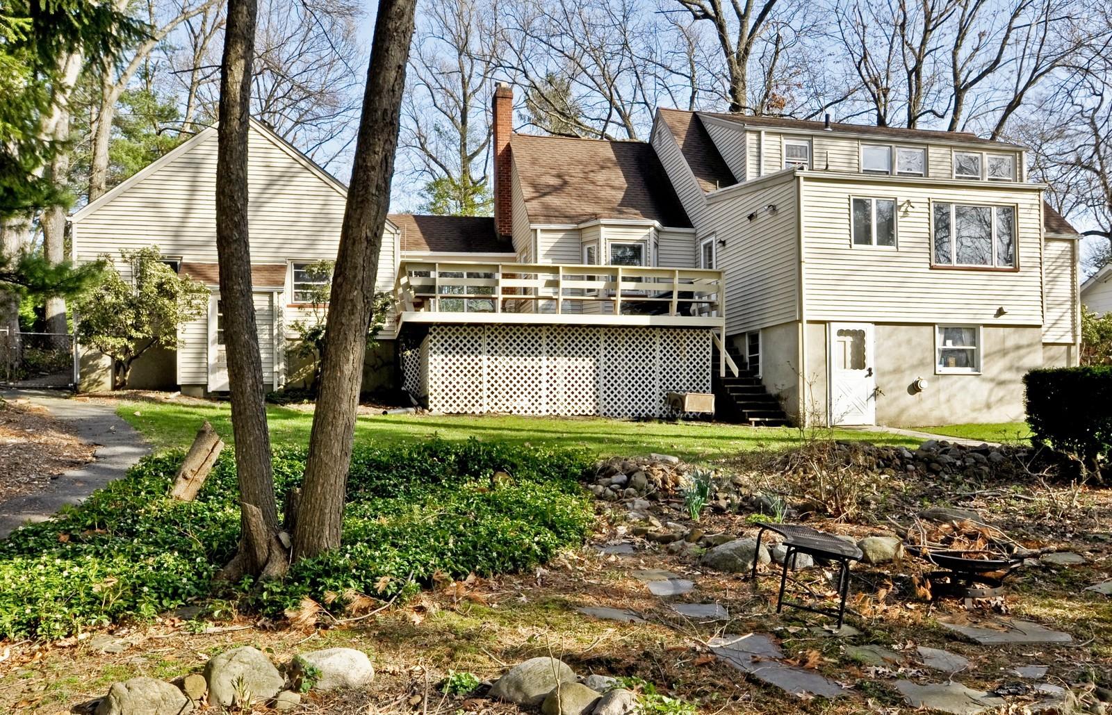 Real Estate Photography - 19 Ridge Road, Roseland, NJ, 07068 - Rear View
