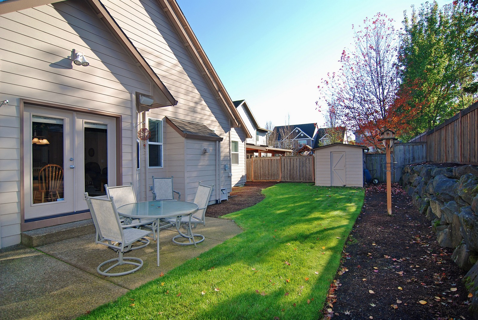 Real Estate Photography - 22553 SW 106th Ave, Tualatin, OR, 97062 - Back Yard
