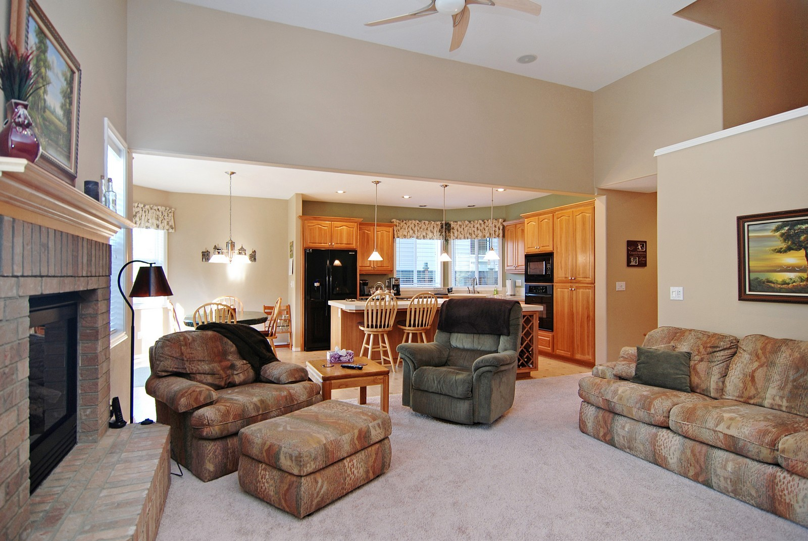 Real Estate Photography - 22553 SW 106th Ave, Tualatin, OR, 97062 - Family Room