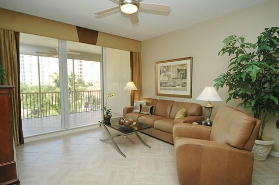 Real Estate Photography - 460 Launch Cir, Unit 302, Naples, FL, 34108 - Living Room