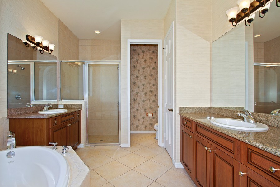 Real Estate Photography - 10691 LONGSHORE WAY EAST, NAPLES, FL, 34119 - Master Bathroom